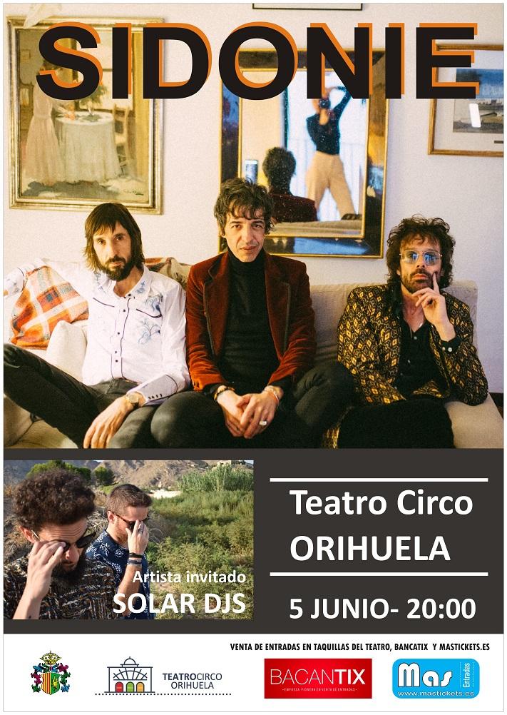 Concierto Sidonie +Solar Dj en Orihuela