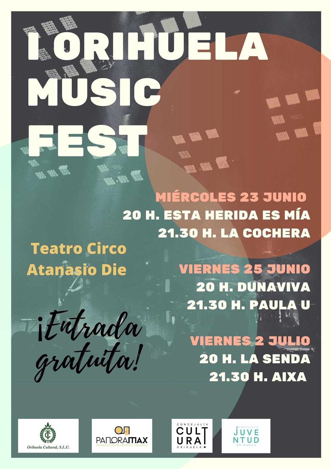 cartel del primer orihuela music fest